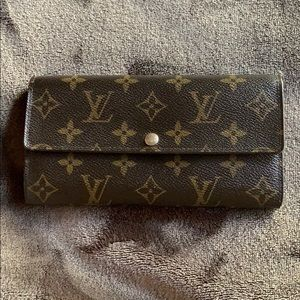 Long Flower Print Sarah Lv Monogram Wallet